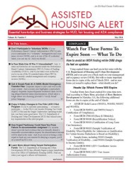 Assisted Housing Alert Magazine
