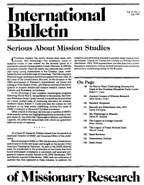 International Bulletin of Missionary Research Magazine Subscription