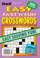 DELL'S BEST EASY FAST 'N' FUN CROSSWORDS Magazine Subscription