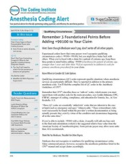 Anesthesia & Pain Management Coding Alert Magazine Subscription
