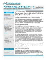 Pulmonology Coding Alert Magazine Subscription