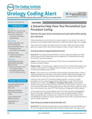 Urology Coding Alert Magazine Subscription